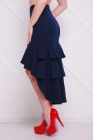 черная юбка с воланами. юбка мод. №25 (длинная). Цвет: темно синий купить