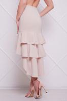 черная юбка с воланами. юбка мод. №25 (длинная). Цвет: светло бежевый купить