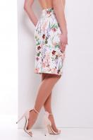 юбка-карандаш с цветами. Цветочки юбка мод. №14 Оригами. Цвет: принт купить