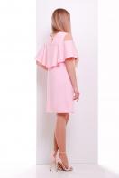 мятное платье с воланом на плечах. платье Ольбия б/р. Цвет: розовый купить