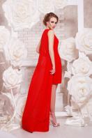 Красное платье с шифоновой накидкой. платье Ясмина б/р. Цвет: красный