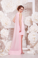 Красное платье с шифоновой накидкой. платье Ясмина б/р. Цвет: розовый