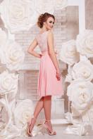 коктейльное мятное платье до колен. платье Настасья б/р. Цвет: персик цена