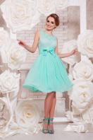 коктейльное мятное платье до колен. платье Настасья б/р. Цвет: мята купить