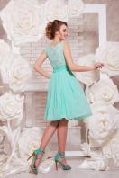 коктейльное мятное платье до колен. платье Настасья б/р. Цвет: мята цена