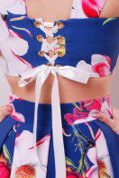 летний костюм юбка и топ. Магнолия юбка-топ №28. Цвет: синий цена