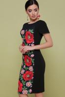 черное платье с маками. Маки платье Питрэса-КД к/р. Цвет: черный в интернет-магазине