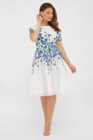 легкое белое платье с синими цветами. Синие цветы платье Мияна-КД к/р. Цвет: принт купить