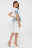 легкое белое платье с синими цветами. Синие цветы платье Мияна-КД к/р. Цвет: принт в интернет-магазине