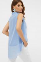 розовая блузка без рукавов. блуза Санта-Круз б/р. Цвет: голубой в интернет-магазине
