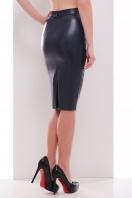 бежевая юбка из экокожи. юбка мод. №29 (кожа). Цвет: темно синий купить
