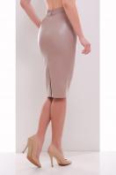 бежевая юбка из экокожи. юбка мод. №29 (кожа). Цвет: бежевый купить