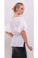 белая блузка с открытыми плечами. блуза Бьянка к/р. Цвет: белый купить