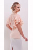 белая блузка с открытыми плечами. блуза Бьянка к/р. Цвет: персик цена