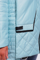 темно-зеленая куртка на синтепоне. Куртка 87. Цвет: мята в интернет-магазине