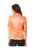 Зеленая блузка классического кроя с коротким рукавом. блуза Эстель к/р. Цвет: оранжевый
