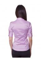 Зеленая блузка классического кроя с коротким рукавом. блуза Эстель к/р. Цвет: сиреневый