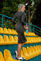 темно-серое платье спортивного стиля. платье Макси д/р. Цвет: темно серый купить