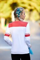 спортивный свитшот с надписями. New York красный кофта Свитшот №1Ф (весна) д/р. Цвет: принт купить