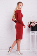 теплое сиреневое платье. платье Гвинея д/р. Цвет: бордовый купить