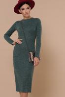 черное платье миди. платье Габриела д/р. Цвет: изумрудный купить