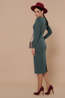 коричневое платье из ангоры. платье Габриела д/р. Цвет: изумрудный цена