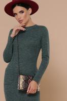 коричневое платье из ангоры. платье Габриела д/р. Цвет: изумрудный в интернет-магазине