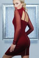 короткое черное платье на праздник. платье Доляна д/р. Цвет: бордовый купить