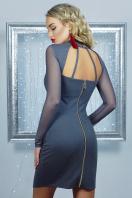 короткое черное платье на праздник. платье Доляна д/р. Цвет: серый купить