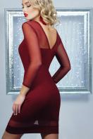 нарядное бордовое платье. платье Агния д/р. Цвет: бордовый купить