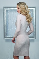 облегающее блестящее платье. платье Сияна д/р. Цвет: пудра купить