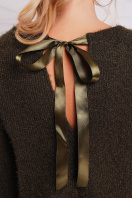 бордовая кофта свободного кроя. кофта Нежана д/р. Цвет: хаки в интернет-магазине