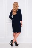 повседневное платье для полных. Темно синяя лапка платье Ирида-Б д/р. Цвет: темно синий цена