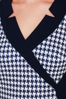 повседневное платье для полных. Темно синяя лапка платье Ирида-Б д/р. Цвет: темно синий в интернет-магазине