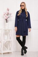 бордовое пальто с накладными карманами. пальто П-301-90. Цвет: т.синий цветок купить