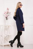 бордовое пальто с накладными карманами. пальто П-301-90. Цвет: т.синий цветок цена