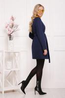 женское пальто цвета электрик. пальто П-337. Цвет: т.синий цветок цена