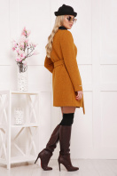 красное пальто без воротника. пальто П-337ш. Цвет: горчица цена