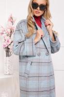 клетчатое пальто прямого кроя. пальто П-300-90. Цвет: 1702 купить