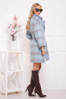 клетчатое пальто прямого кроя. пальто П-300-90. Цвет: 1702 цена