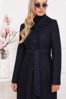 бордовое пальто с английским воротником. пальто П-319. Цвет: 1306 купить