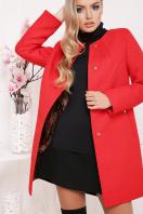 черное пальто на весну. пальто П-337. Цвет: красный горох купить