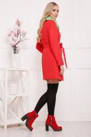 черное пальто на весну. пальто П-337. Цвет: красный горох цена