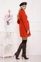 красное пальто без воротника. пальто П-337ш. Цвет: терракот цена