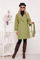шерстяное пальто в клетку. пальто П-300-90. Цвет: 1802 купить