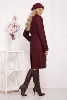 бордовое пальто с английским воротником. пальто П-319. Цвет: 1302 цена