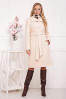 бордовое пальто с английским воротником. пальто П-319. Цвет: 1305 купить