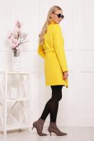 черное пальто на весну. пальто П-337. Цвет: желтый горох цена