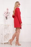 красное пальто без воротника. пальто П-337ш. Цвет: 1008 цена