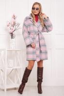 шерстяное пальто в клетку. пальто П-300-90. Цвет: 1703 купить
